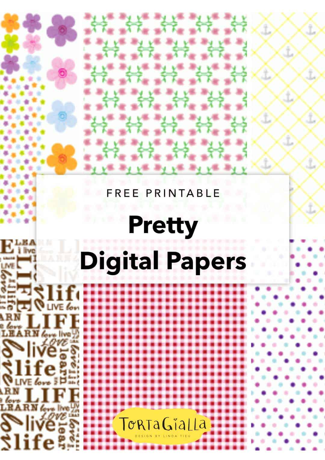 free printable pretty digital papers