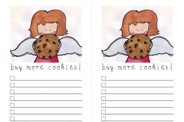 Printable Buy More Cookies Shopping List