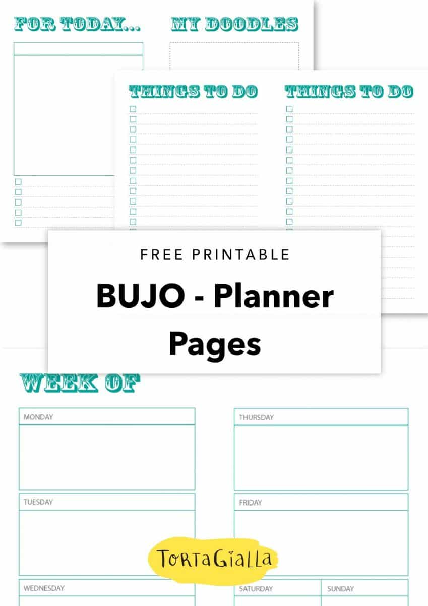 free printable bujo planner pages