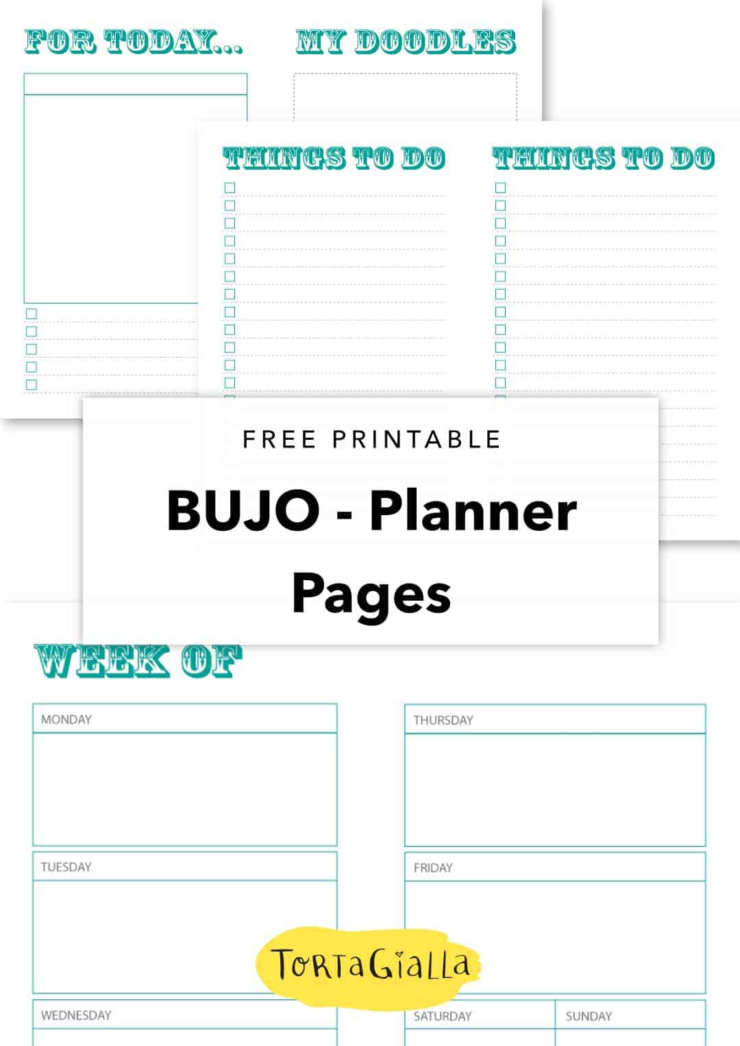 free printable - bujo planner pages
