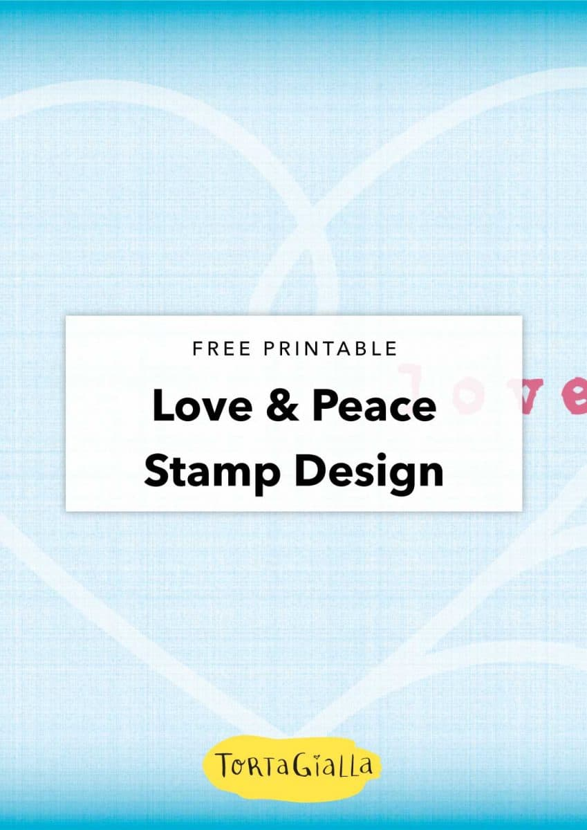 free printable - love and peace wallpaper stamp design