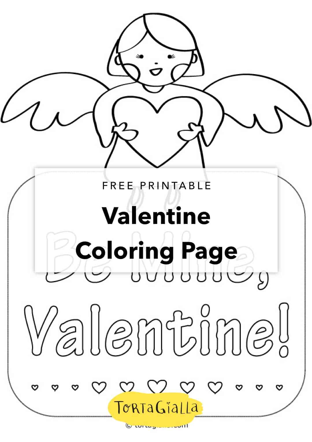Free Printable - Valentine Coloring Page - My Valentine Coloring ...
