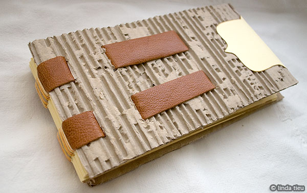 How To Make A Book Cover Out Of Cardboard : Corrugated cardboard book in progress tortagialla