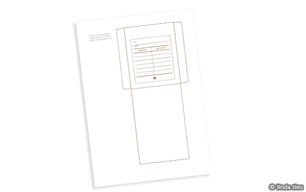 Free Printable Library Pocket Template  Tortagialla