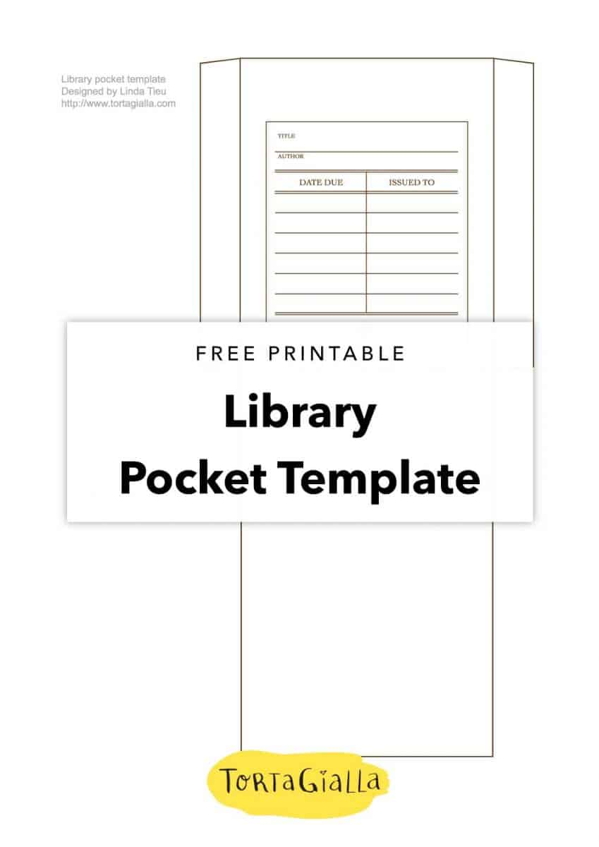 free printable library pocket template tortagialla. Black Bedroom Furniture Sets. Home Design Ideas