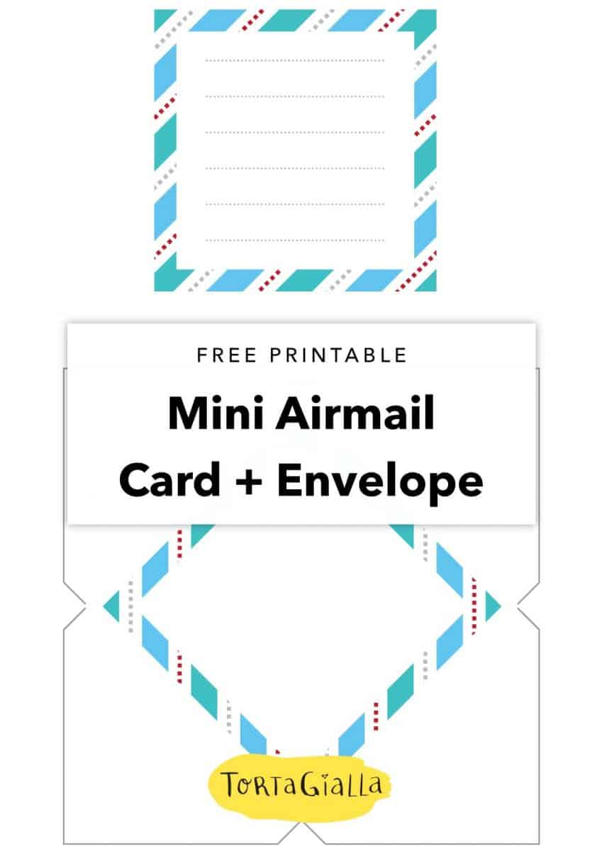 Free Printable Mini Airmail Card + Envelope | A Christmas ...