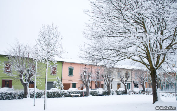 Snow Day in Tuscany