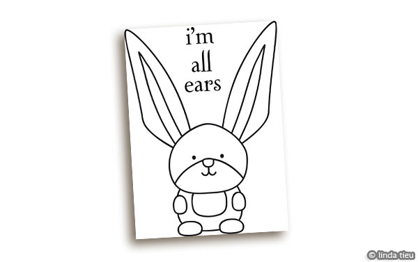 All ears bunny digistamp tortagialla