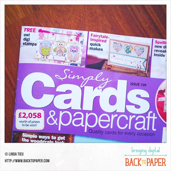 Owlie Digital Stamps Published On Simply Cards & Papercraft Magazine