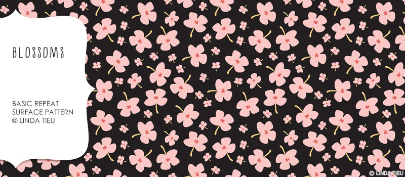 Blossoms Surface Pattern Design