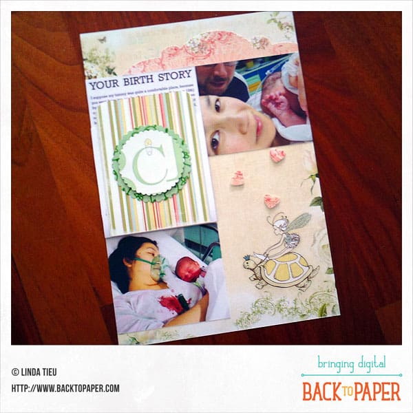 Your Birth Story Scrapbook Page