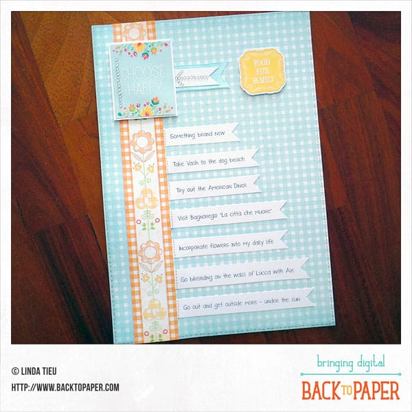 Choose Happy Scrapbook Layout – A Summer Bucket List