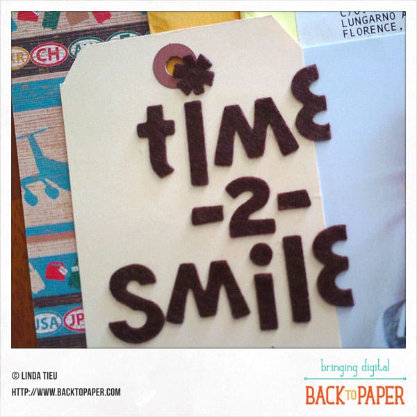 Time -2- Smile Scrapbook Layout