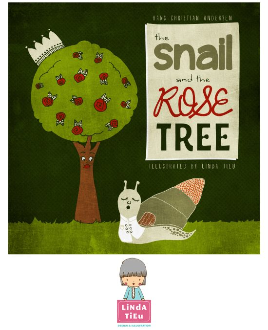 The Snail and The Rose Tree Illustration
