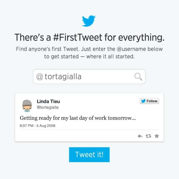 What Does Your First Tweet Say About You?