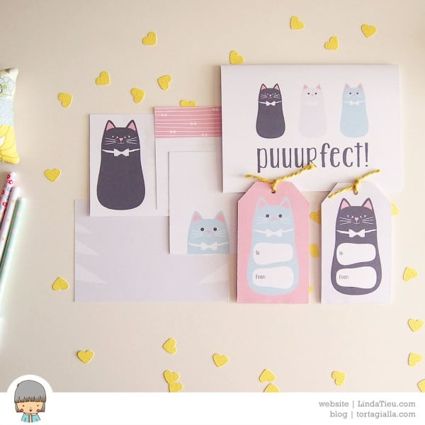 My Puuurfect Cat-Themed Printables on Petit A Petit Blog