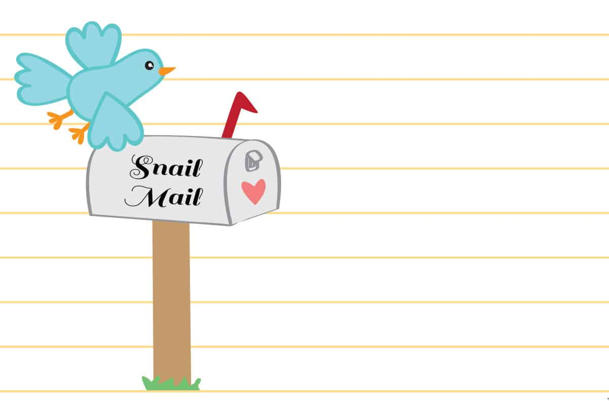 It is a picture of Refreshing Free Snail Mail