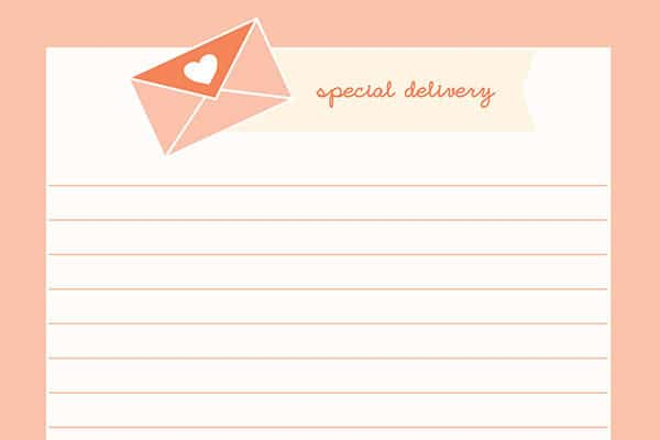 Special Delivery Stationery Printables on HappyPrintClub.com