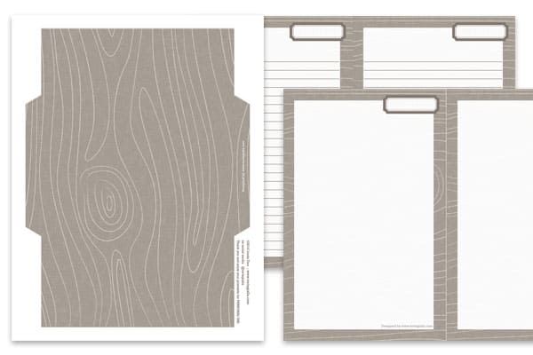 Woodgrain stationery set by tortagialla.com
