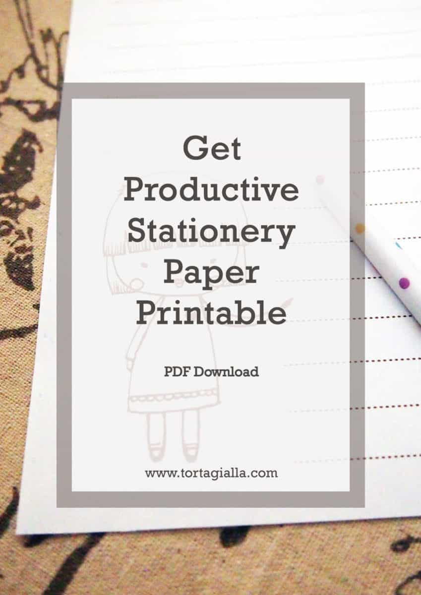 Get Productive Stationery Printable by tortagialla.com