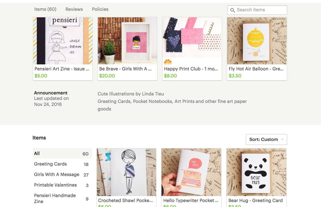 Announcing Real Paper Goods in My Etsy Shop!