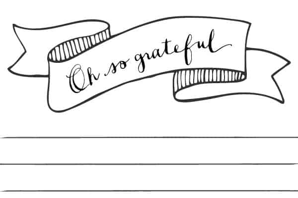 Gratitude is More Than a List