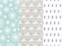 Free Cozy Winter Patterned Paper Printable