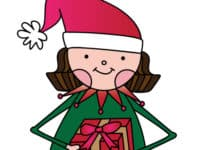 Free Girl Elf Santa's Helper Printable