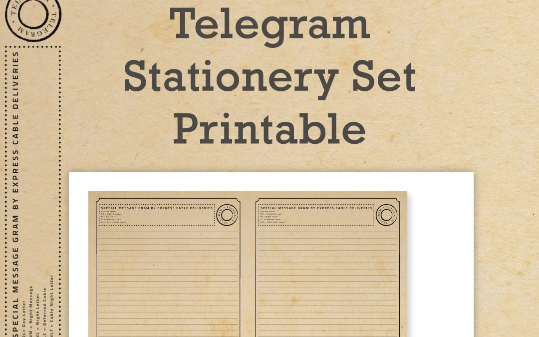 Free Telegram Stationery Printable