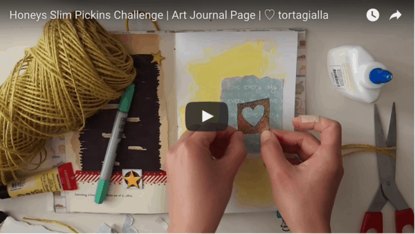 Honeys Slim Pickins Challenge | Art Journal Page