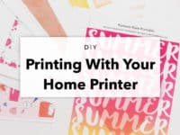 Printing With Your Home Printer – DIY Tips