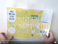 DIY Printable Mini Zine | Papercrafting