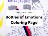 Bottles of Emotions Coloring Page Printable