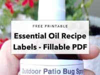 Free Printable – Essential Oil Bottle Labels
