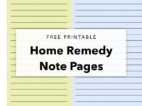 Home Remedy Printable Note Pages