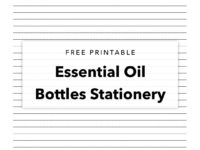 Free Printable – Bottles Stationery Writing Paper