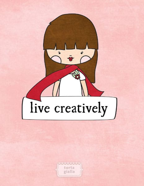 Live Creatively Desktop and Phone Wallpaper Freebie