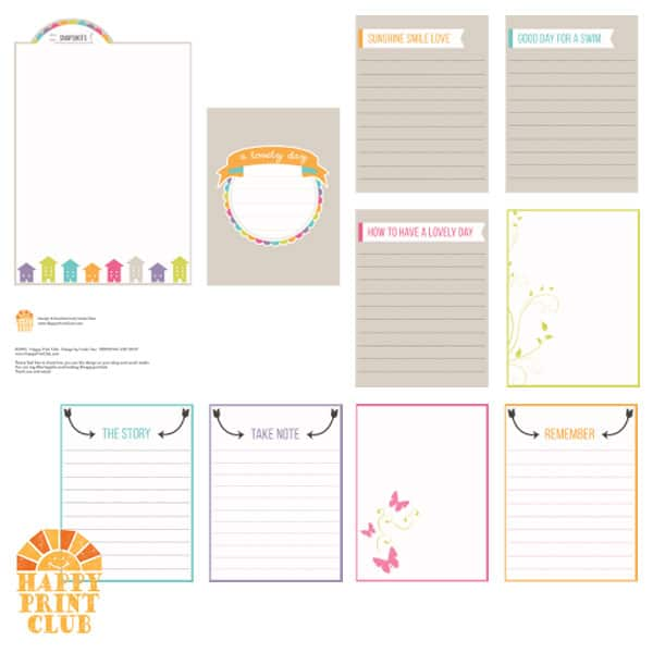 Free Printable A Lovely Day Journaling Card Set