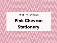 Free Printable Pink Chevron Editable Stationery + Patterned Paper