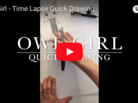 Owl Girl – Time Lapse Quick Drawing