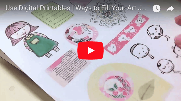 Use Digital Printables in Your Art Journal