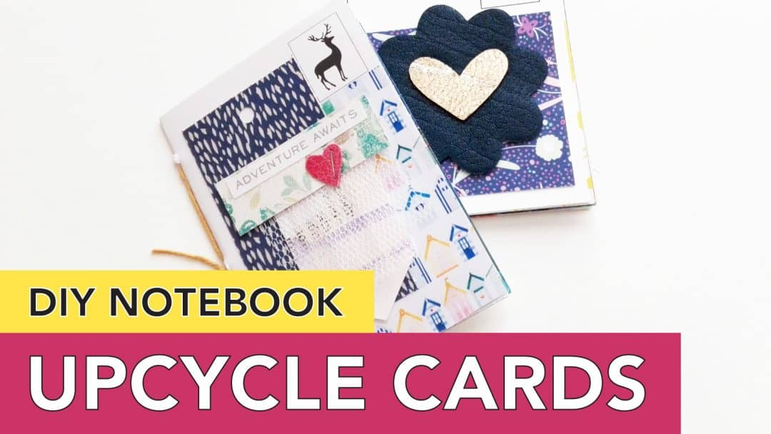 Upcycle Greeting Cards and Postcards into Notebooks