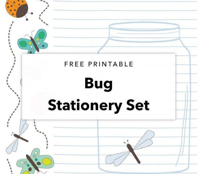 Free Printable Bug Stationery Set