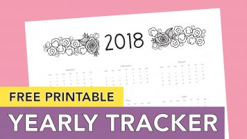 Free Printable Calendar 2018 | Yearly Tracker