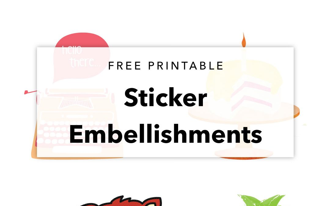 Free Printable Cute Sticker Designs | Planner Decor