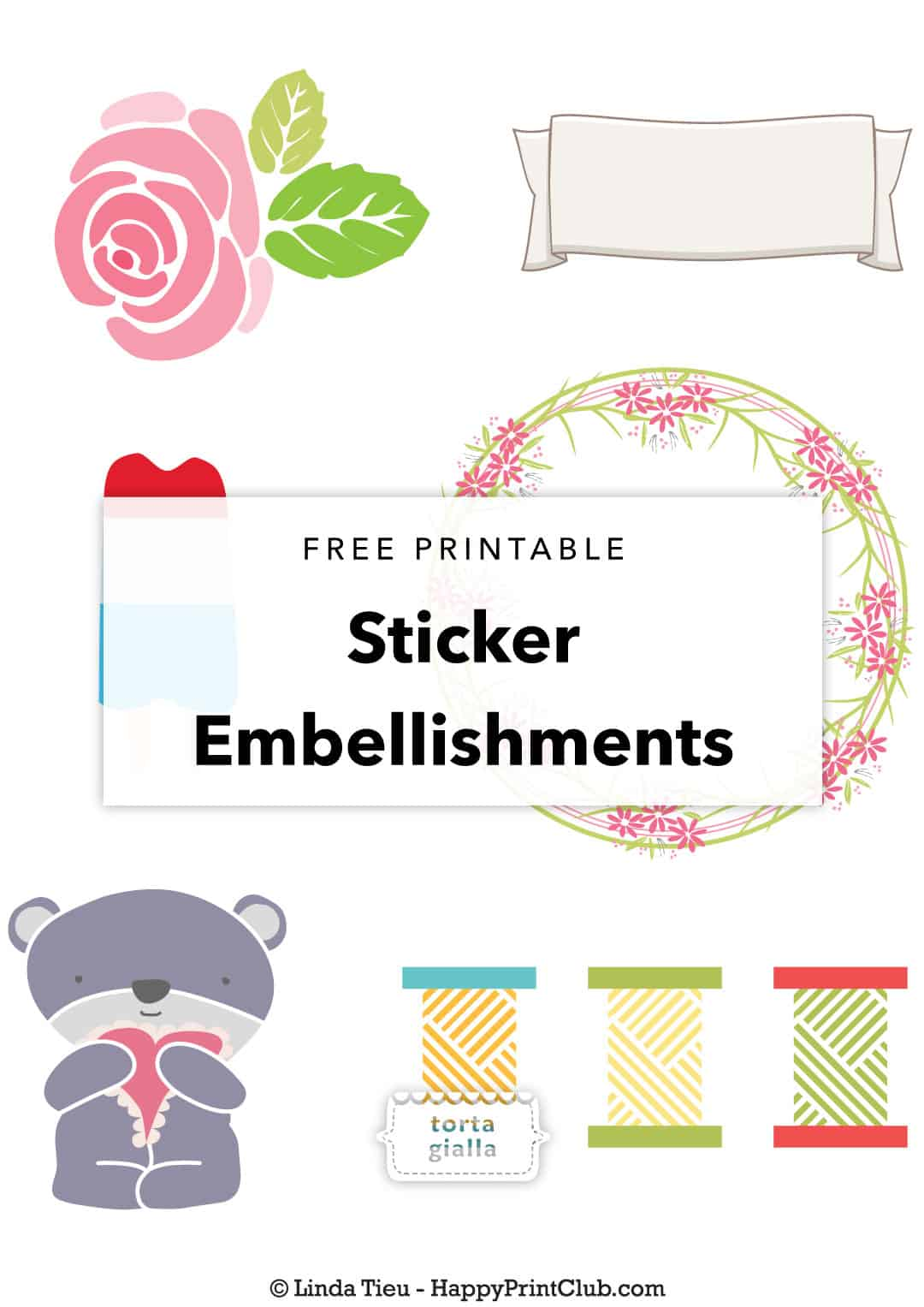 More Free Printable Sticker Embellishment Motifs