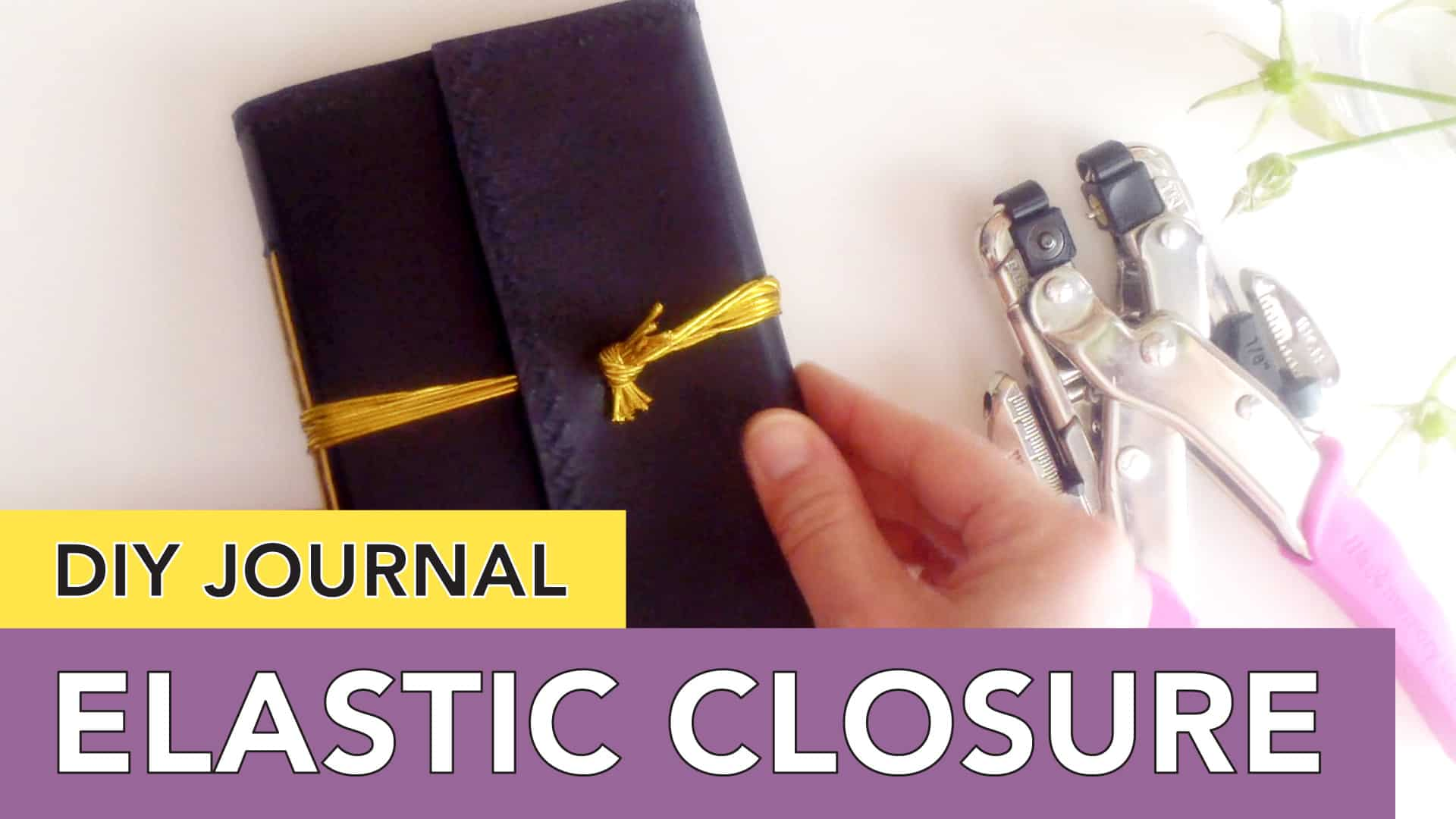 DIY Journal Cover | Wraparound Elastic Closure