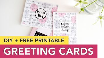 Greeting Card Idea + Free Printable | Easy DIY Minimal Chic Cards You Can Duplicate