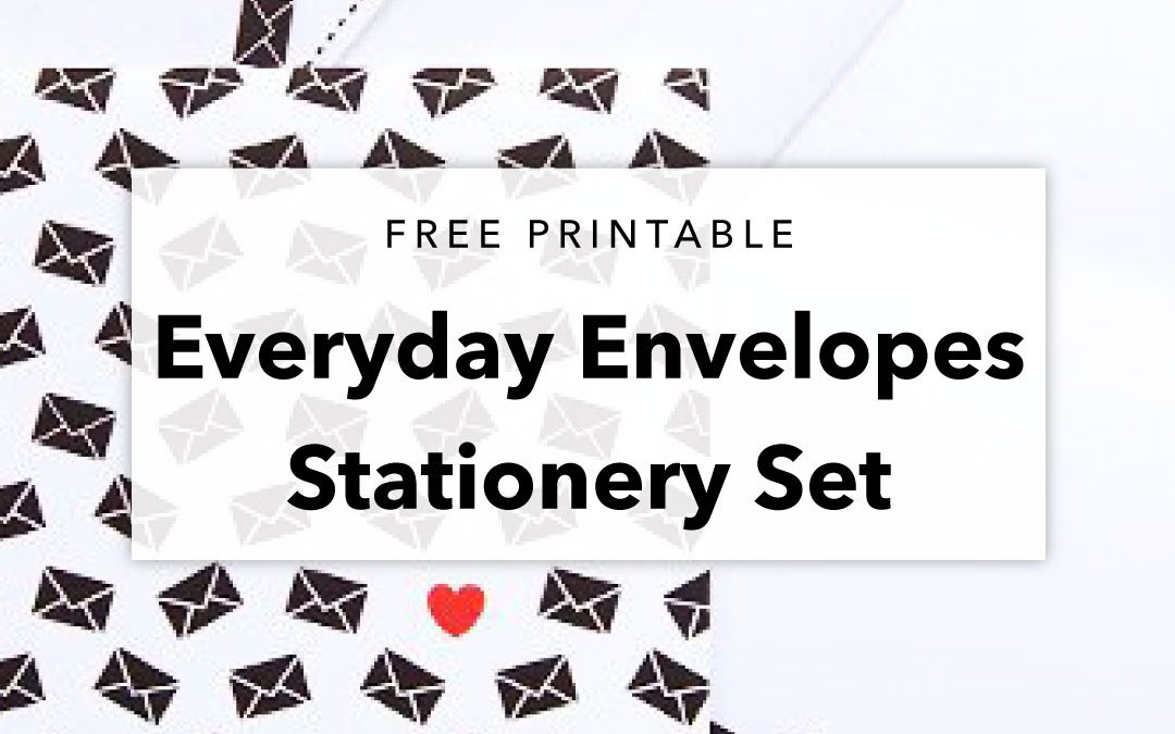 Free Printable Envelopes Stationery Set for Letter Writers Alliance
