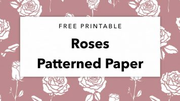 Free Printable Roses Patterned Paper
